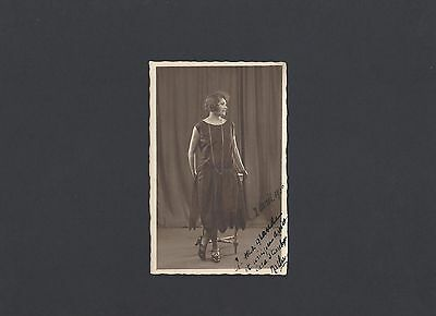 Real Photo Postcard of a Woman-Made in Paris, France 1926
