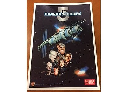 Babylon 5 Limited Edition Print - 1996 Video Release Warner Bros - No creases