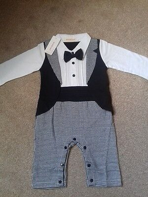Baby Boy Romper For Special Occasion Size 9-12 Months