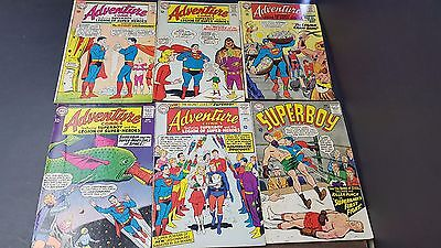 Lot of 6 DC 5 Adventure and 1 Superheroes Various Conditions Silver Age DC4