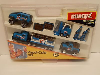 Buddy L #4906  Pepsi~Cola 12 Piece Set/ New in Original Case/ Adult Owned/ ca'85