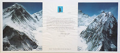 Sherpa Tenzing, with Hillary first to climb Everest, original typed letter