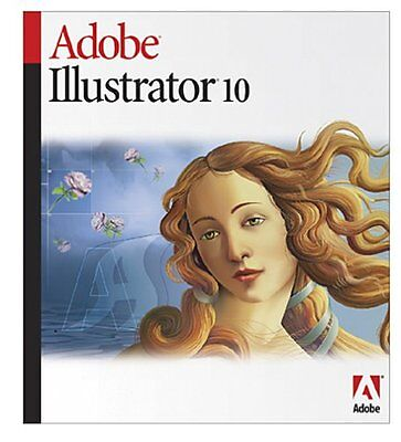 Adobe Illustrator 10 Software for Macintosh full Version 10.0 Genuine Mac