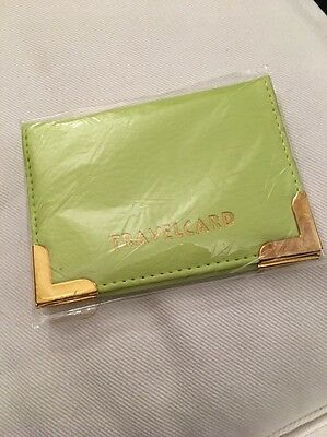 Brand New Travel Card Holder Green