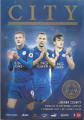 LEICESTER CITY v DERBY COUNTY  08.02.17 F.A. CUP PROGRAMME