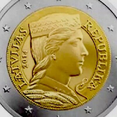 Latvia 2 Euro Coin 2014 Republika New BUNC from Roll