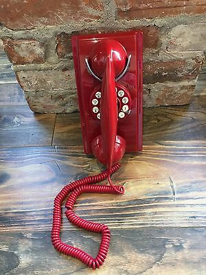 Classically Designed Wall Phone Featuring Rotary Dial With Push Button Technolog