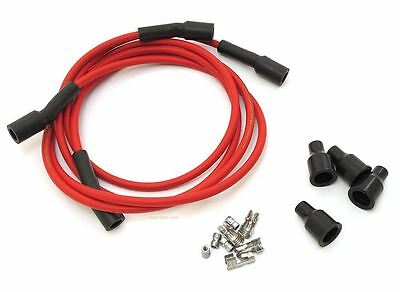 Dynatek Spark Plug Wires - 7mm - Copper Core - Red - Fits 2 or 4cyl Motorcycle
