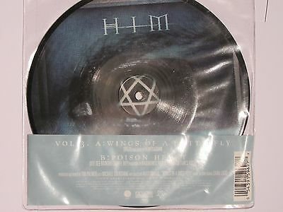 "Wings Of A Butterfly / Poison Heart 7"" Picture Vinyl Him H.i.m Rare Limited"