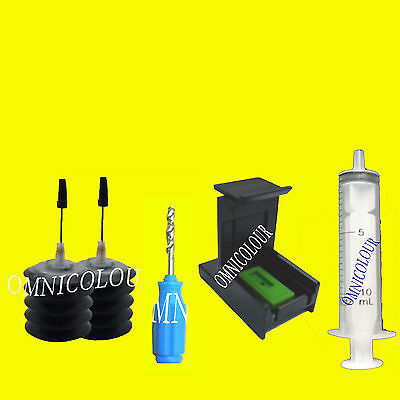60ml black refill ink + stabilizer, clip for Canon PG-510 PG-545 cartridge