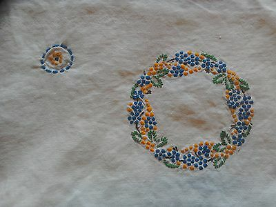 Vintage Table Cloth. Hand Embroidered.