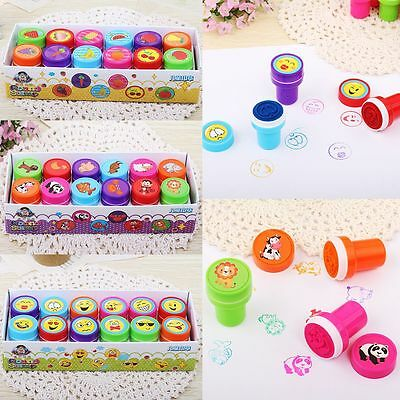 12pcs/set  Cartoon Album Photo DIY Fruit Animal Emoji Scrapbooking Stamp