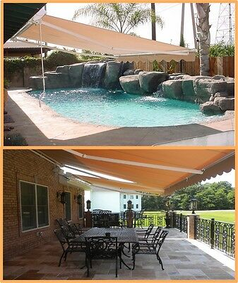 Luxury Retractable Folding Arm Awning 3m x 2.5m Beige or Black