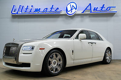 "2010 Rolls-Royce Ghost  English White over Creme Light Leather. 20"" Wheels. Brushed Aluminum Hood Wrap."
