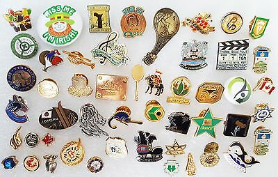 Huge Vintage Pin -Pinback -Button -Tie Tack -Lot of 50 -Luba -Canada -Helicopter