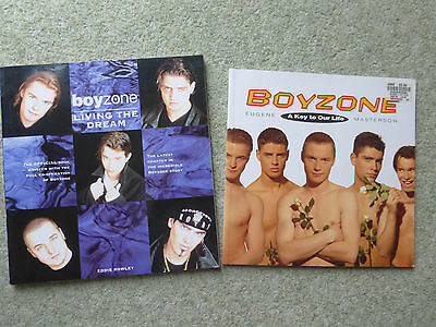 2 x Boyzone Books, A Key to Our Life & Living The Dream, Very Good Condition,