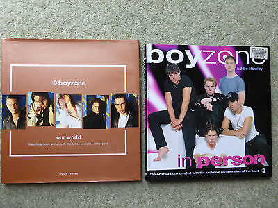 2 x Boyzone Hardback Books, Our World & In Person, Very Good Condition,