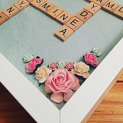 Family Scrabble Frame Gift Baby Wedding Christmas New Home Valentines