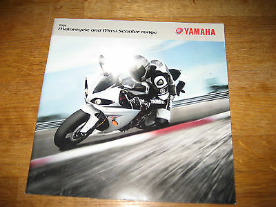 YAMAHA 2009 Full Motorcycle & Scooter Range Original Brochure, 52 pages