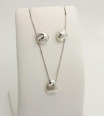 Tiffany & Co. Elsa Peretti Bean Necklace and Earrings Sterling Silver