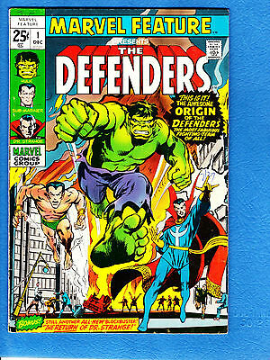 Marvel Feature #1, 1st Defenders and origin, Neal Adams cover, Baron Mordo app