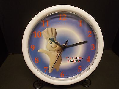 "PILLSBURY ""Doughboy"" Battery Powered Kitchen 10"" Diameter Cloc~Tested and Works"