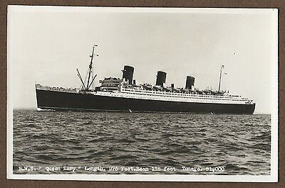 Real Photo Postcard Of Rms Queen Mary
