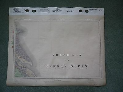 Special Ordnance Survey Geology Drift CLOTH Map 8 1906 Spurn Grimsby Cleethorpes