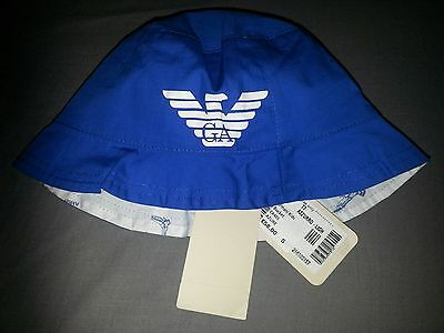 baby boys Armani bucket hat small age 2-4 year's