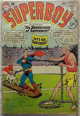 Superboy #110 (DC 1964 1st series) 52 years old. GD condition. Silver Age.