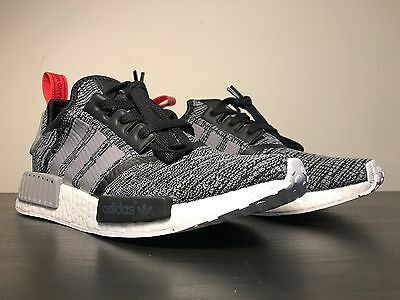 buy popular fddc5 75f16 Adidas NMD R1 Core Black Grey Red Glitch Camo Pack Originals Nomad Runner  BB2884