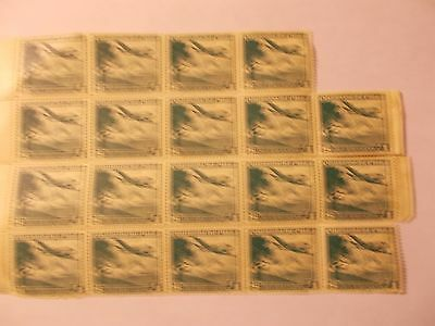 BLOCK of 19 CHILE AIRMAIL STAMPS ~ $1 VALUES ~ MINT with FULL GUM ~ 50 YEARS OLD