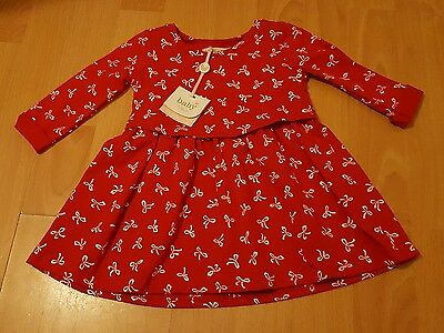 baby girl 3 - 6 months. red dress with bows on. BNWT.