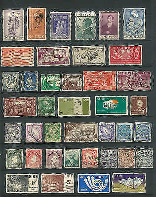 Ireland Vintage selection of 40 stamps from 1920's to 60's  REALLY NICE  LOT A45