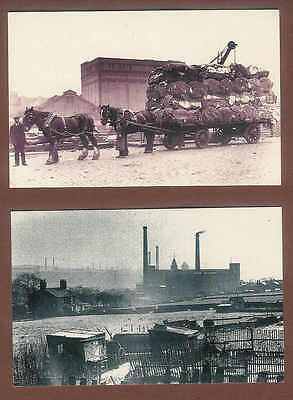 Cotton Mills Rochdale 1952 Horse drawn cotton lorry Liverpool 1912 Postcards D14