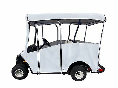 "Portable Golf Cart Cover for Extended 80"" Roofs White New"