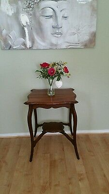 *attractive Small Vintage Mahogany 2 Tier Window Occasional Side Table*
