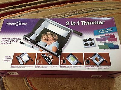 2 in 1 Trimmer - Purple Cows