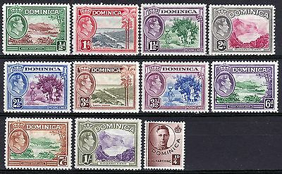 Dominica-1938/47. 11 Values to 1/-. Very fresh MM