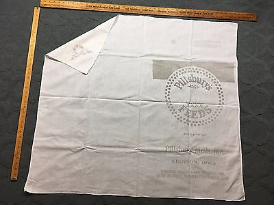 Antique Hand Applique Design Pillsbury's Feed Sack Tea/Dish Towel