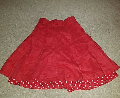 Girls Red Skirt 4 - 5 Years Autograph Marks and Spencer