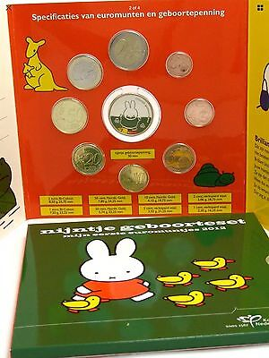 Netherlands Euro Coin Set KMS 2012 Commemorative Baby Plus Medal New Folder