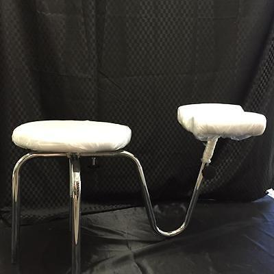 Adjustable PEDICURE STOOL with Foot CushionProfessional Portable +