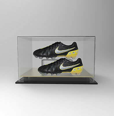 Double Boot /Shoe Display Case Acrylic Perspex - GOLD