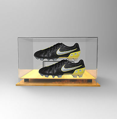 Double Boot /Shoe Premium Display Case  - Shoes/Boots - TIMBER