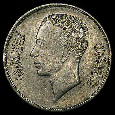 1938-I Iraq 50 Fils silver high grade