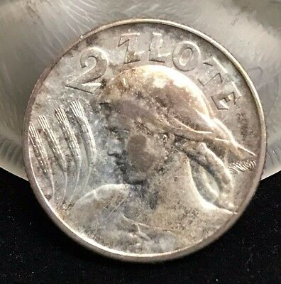 1925 Poland 2 Zlote (London Mint) CH EF Very nice SILVER COIN