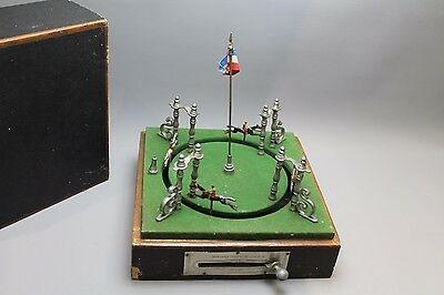 Antique 20th Century French System Brevete Flywheel Horse Racing Game