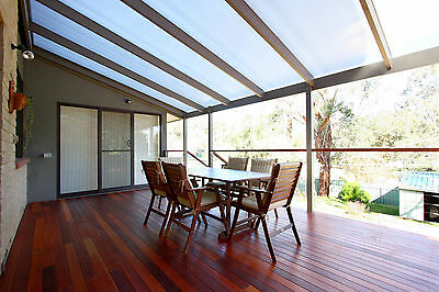 Bronze Corrugated Polycarbonate Pergola Patio Roofing 6000Lx860Wx0.8mm Thick