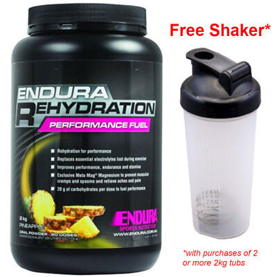 Free Shaker! Endura Performance Rehydration Energy Fuel 2Kg Pineapple Flavour*